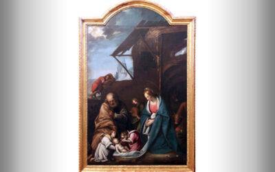 L'Adorazione del Bambino, Bottega del Morazzone, Santuario di Vicoforte
